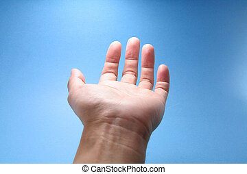 hand reaching to sky, concept of religion