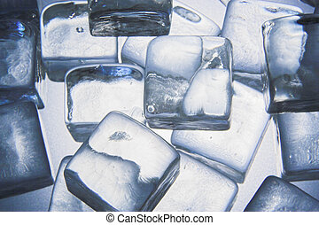 Ice cubes - A stack of ice cubes
