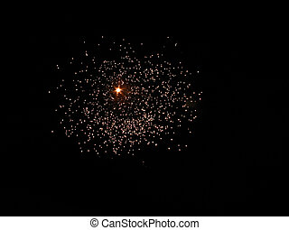 Stars Fireworks - fireworks like a constellation on a black...