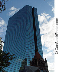 Back Bay Buildings - Back Bay John Hancock building with...