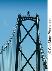 bridge tower - one of the Lions Gate bridge towers in...
