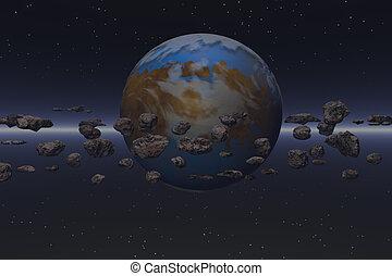 meteor field