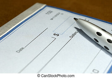 Blank Check - Photo of a Blank Check and a Pen