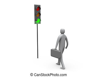 Traffic Light - Business Activity Started.