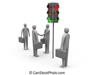 Traffic Light - Let\\\'s Do Business.