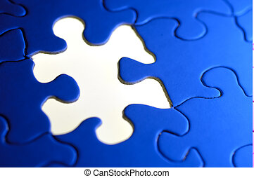 Puzzle Background - Photo of a Puzzle With a Missing Piece