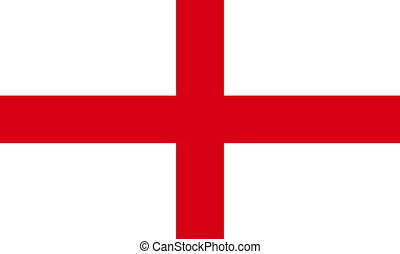 Englands St Georges cross Flag
