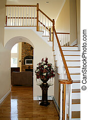 Grand Entrance - View of upscale home seen from entryway