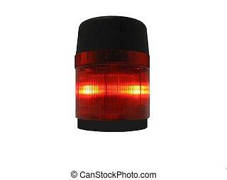 Warning Light - Flashing red emergency beacon.