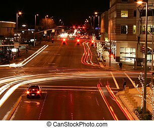 Urban Night - time lapse night scene in an urban area