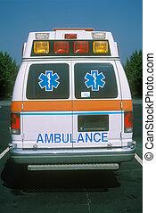 parte traseira, vista, ambulan