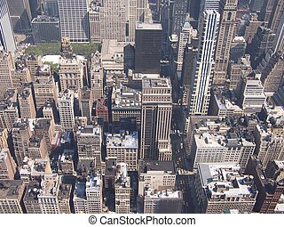 new york  - looking down from the empire state building