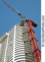 Construction crane at a building site