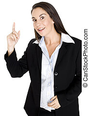 Business Expression - A businesswoman looks like she has...