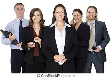 Business Leadership - An attractive young business executive...