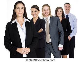Group Business Team - A group of five young professionals...