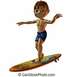 Dennis Surfer - 3D Toon Render