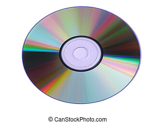 Colorful cd-rom device isolated on white background