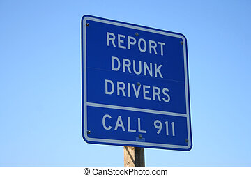 report drunk drivers sign
