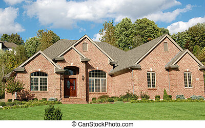Two story house - Lovely two-story brick house