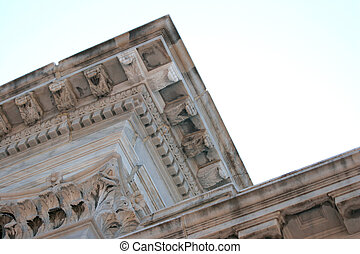 federal building det - detail of upper details of a antique...