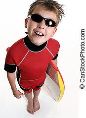 criança, Pronto, surfar