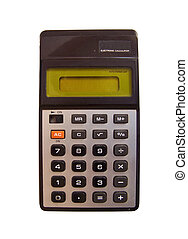pocket calculators - old electronic pocket calculator from...