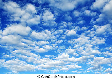 Clouds - Blue sky and layers of clouds