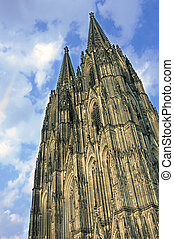 Cologne Cathedral - looking up at cologne cathedral germany...