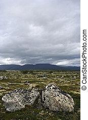 The Tundra - Cloudy sky at the Norvegian tundra