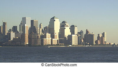 NYC SKYLINE 37 - New York City - view from the river Lower...