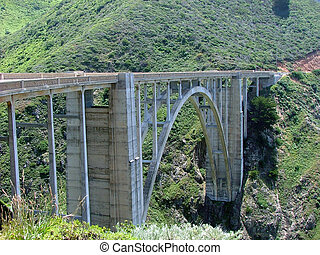 Bixby Bridge - Scenic bridge on Highway 1