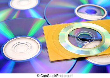 business card size cd whit blank dvd background