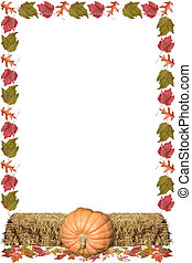 Leaf Frame - a frame of pumpkins