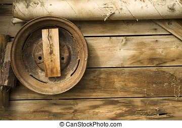 Rustic 1 - Old wooden shed wall