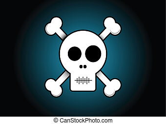 Skull and Crossbones - Skull and crossbones illustration.