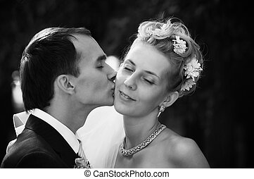 True love - wedding kiss(special photo f/x,focus on the...