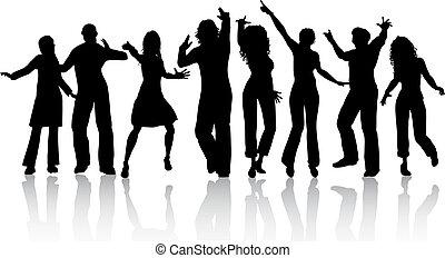 gente, bailando