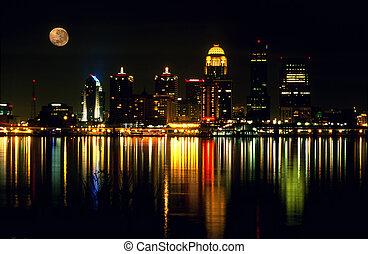 Louisville skyline - Night skyline of Louisville, Kentucky...