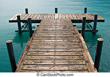 Dock - Empty dock in calm lake