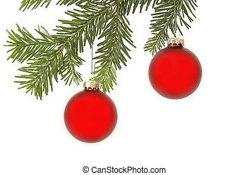 Christmas balls - Christmass balls hanging in a christmas...
