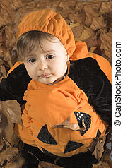 halloween disguise - baby dressed in halloween disguise...