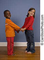 Diversity - A series of images showing children of Diverse...