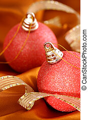 Christmas Ornaments with Ribbon