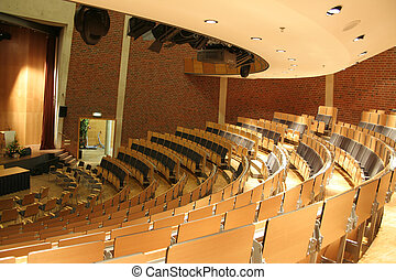 Auditorium - Conference hall, ready for beninning