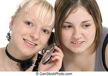 Teens on Cellphone - Teen girls on cellphone