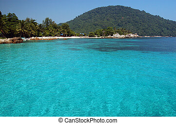 Tropical blue sea - Fantastic blue sea - Perhentian island,...