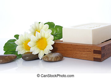 Soap, Flower and River Stone - Soap, flower and river stone...