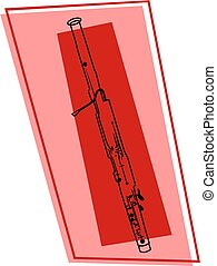 bassoon icon - line drawing of a bassoon wood wind musical...