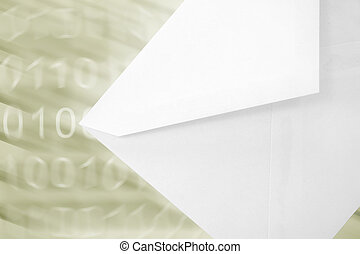 email concept - envelope and digit background, concept of...